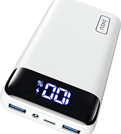 INIU Power Bank, 20W PD3.0 QC4.0 Fast Charging LED Display 20000mAh Portable Charger, 3A Outputs Flashlight Phone Battery Pack Compatible with iPhone Samsung Xiaomi Huawei Tablet, etc. [2021 Version]
