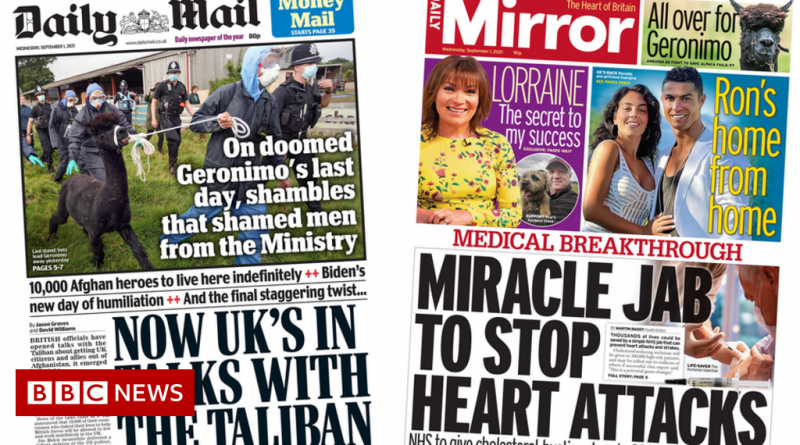 Newspaper headlines: UK in talks with Taliban and new 'miracle jab'