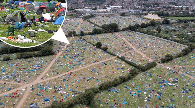 Thousands of tents abandoned at Reading Festival by 'lazy' revellers