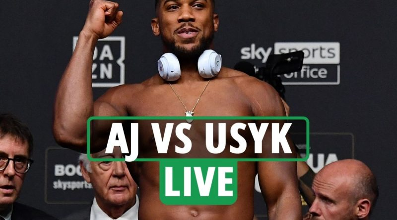 Anthony Joshua vs Oleksandr Usyk LIVE: Follow all the build-up to huge fight
