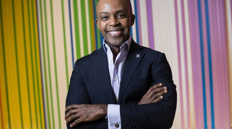 Alphonso David, president of the Human Rights Campaign, is photographed in their office in 2019