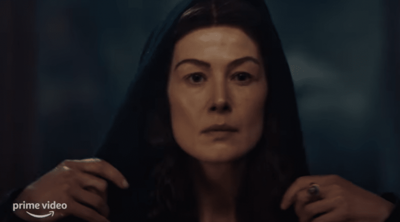 Rosamund Pike stars in the epic fantasy series The Wheel of Time.