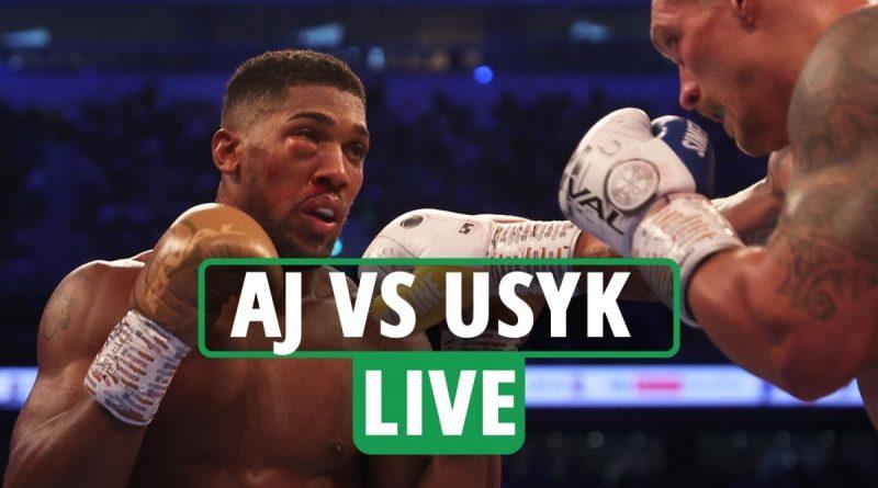 Anthony Joshua vs Oleksandr Usyk LIVE RESULTS: AJ taken to hospital after 'suspected damaged eye socket' - latest