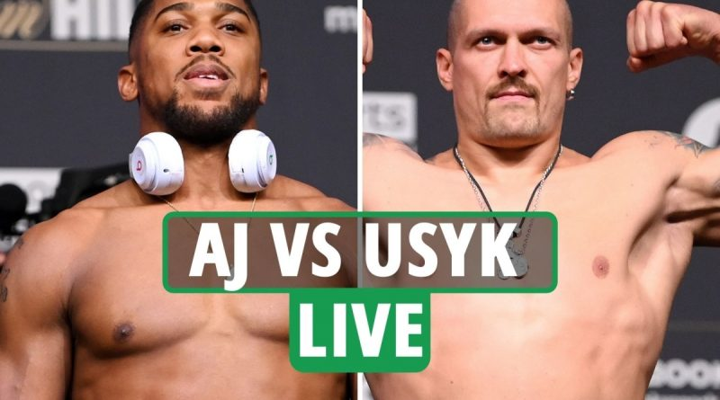 Anthony Joshua vs Oleksandr Usyk LIVE RESULTS: Campbell Hatton controversy - UK start time, TV, live stream, undercard