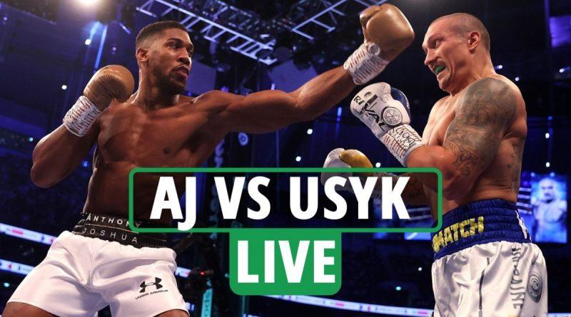 Anthony Joshua vs Oleksandr Usyk LIVE RESULTS: Re-match updates as Ukrainian wins, AJ eye socket injury - reaction