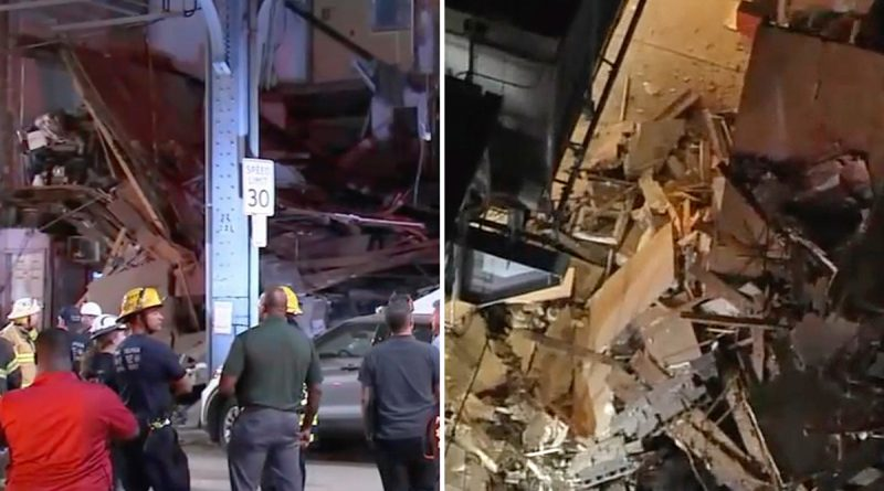 Building COLLAPSES in Philadelphia injuring at least two