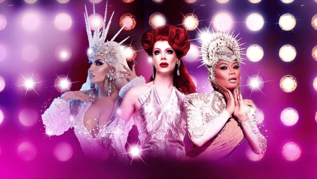 Drag Race's Trinity the Tuck, Divina de Campo and Jujubee will headline the Strike A Pose! tour.