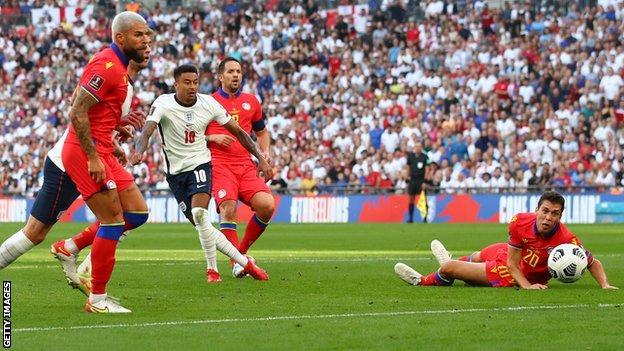 Jesse Lingard scores for England against Andorra