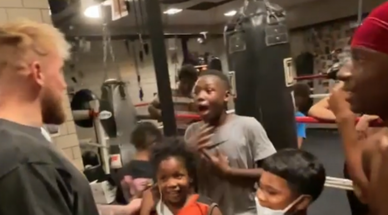 Jake Paul makes surprise appearance at local boxing gym to gift gloves to kids