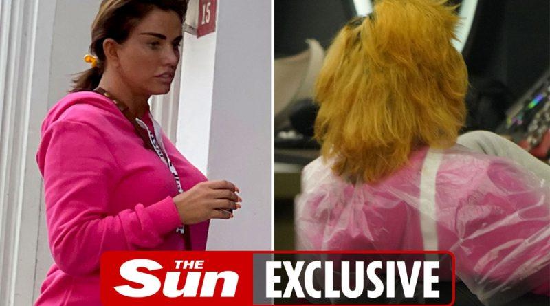 Katie Price has dramatic hair transformation at Turkey hair salon