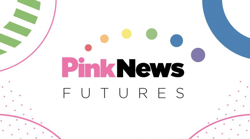 Text reading PinkNews Futures