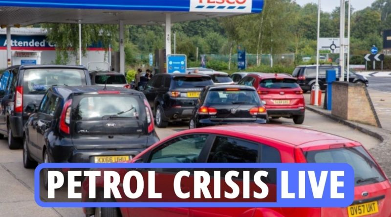 LIVE updates on the UK petrol shortage as BP, Esso and Tesco stations close