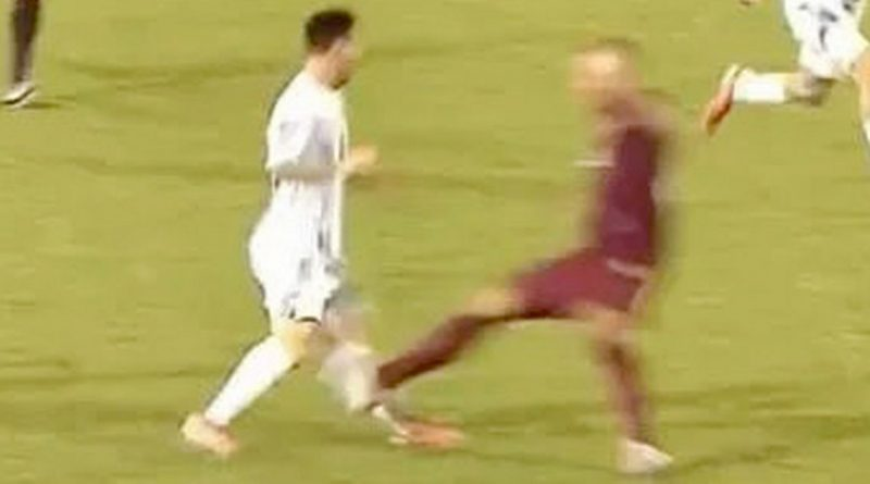 Lionel Messi targeted by horror red card tackle in Argentina win