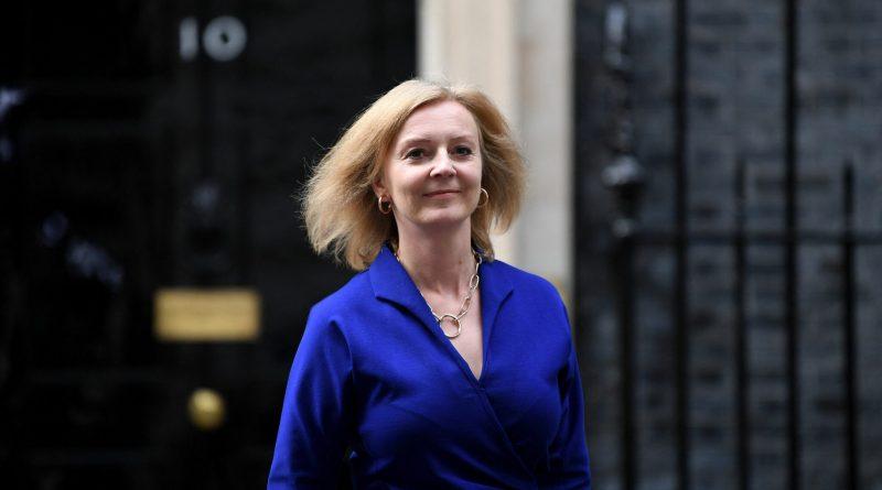 Liz Truss leaves Downing Street