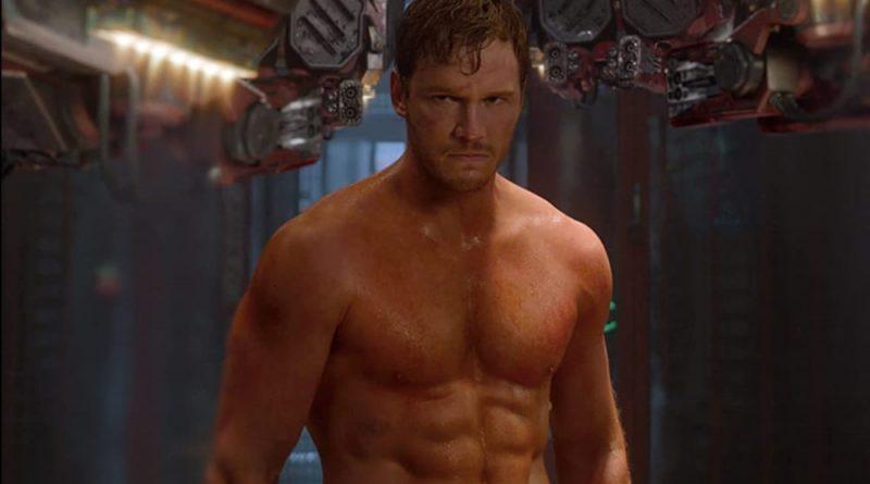 Chris Pratt, shirtless, in Guardians of the Galaxy