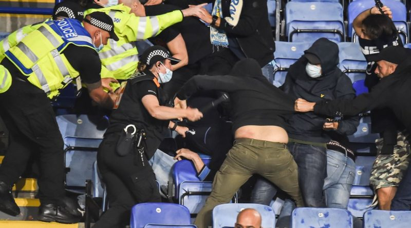 Napoli fans in violent clashes with police after missiles thrown