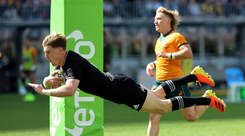 New Zealand sweep Australia 38-21 in Perth to reclaim Rugby Championship lead