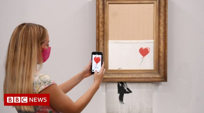 Partially-shredded Banksy back under the hammer at Sotheby's