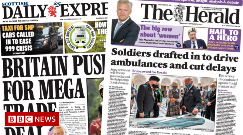 Scotland's papers: Army 'ready for action' and trade deal speculation