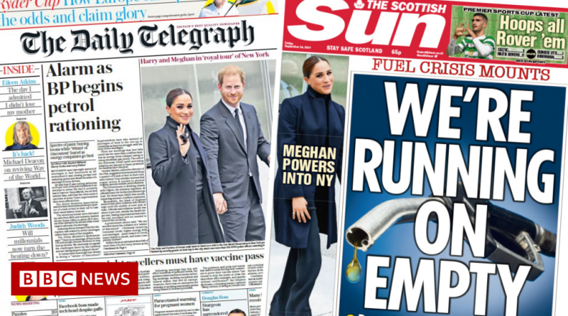Scotland's papers: Petrol rationing as PM urges 'don't panic'