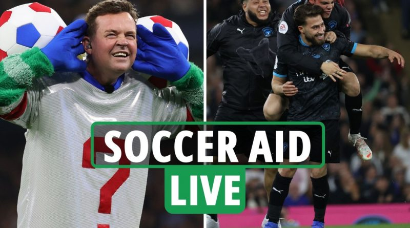 Soccer Aid 2021 LIVE REACTION - England 0-3 World XI:  Lee Mack FINALLY gets his goal after Kem double - latest updates