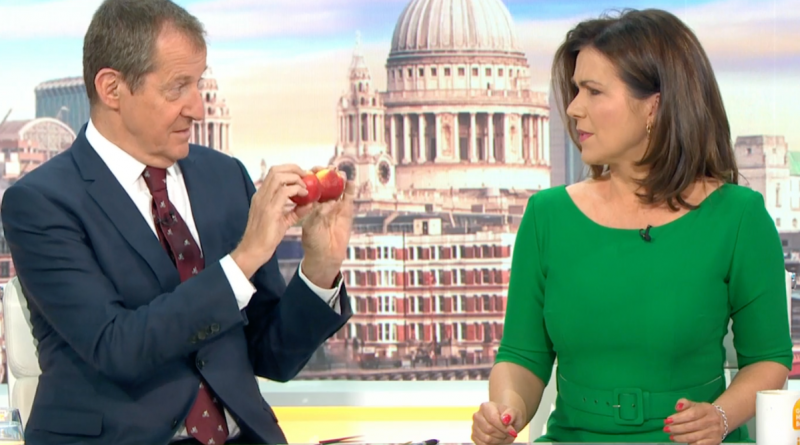 Susanna Reid recoils as Alastair Campbell tells her: 'Feel my wrinkly apples'