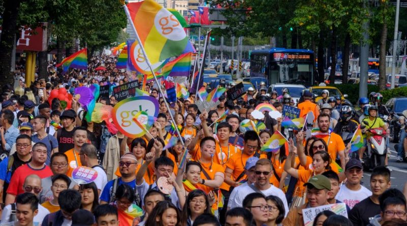 A Pride march in Taipei, Taiwan in 2019.