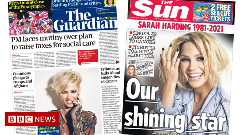The Papers: PM faces tax plan 'mutiny', and Harding tributes