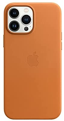 Apple Leather Case with MagSafe (for iPhone 13 Pro Max) - Golden Brown