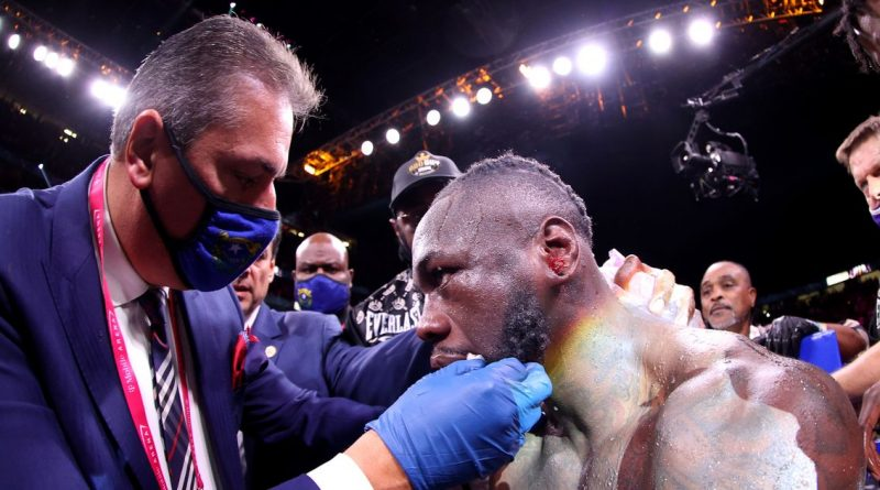 Deontay Wilder snubbed Tyson Fury's promoter after brutal KO defeat