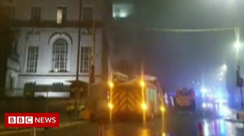 Fire near Adelphi Hotel in Liverpool city centre