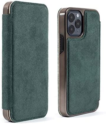 Greenwich BLAKE Alcantara Case for iPhone 12 Pro Max (2020) 6.7 Inch Compatible with MagSafe Wireless Charging - Sage (Green)