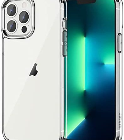 JETech Case Compatible with iPhone 13 Pro Max 6.7-Inch, Shockproof Bumper Cover, Anti-Scratch Clear Back, HD Clear