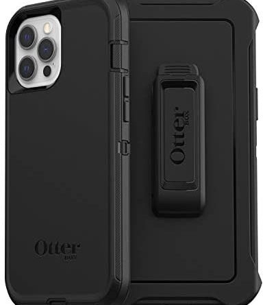 OtterBox for Apple iPhone 12 Pro Max, Superior Rugged Protective Case, Defender Series, Black