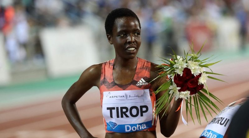 Tirop after competing in a Diamond league race