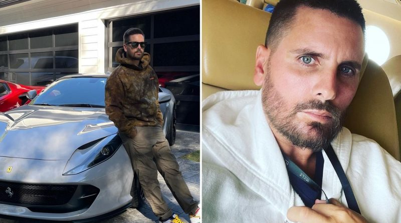 Scott accused of 'flaunting his money' as he poses with his Ferrari
