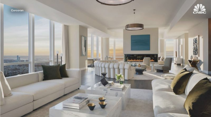 Take a tour of the $55 million penthouse that towers over New York's Hudson Yards