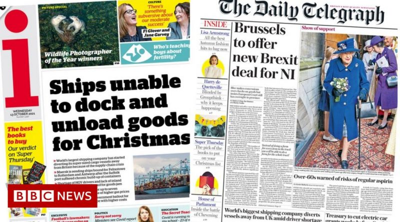 The Papers: Goods stuck at UK port, and Brexit deal offer