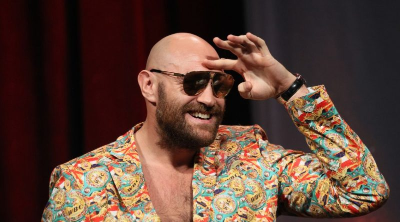 Tyson Fury reacts to not being allowed to face off with rival Deontay Wilder