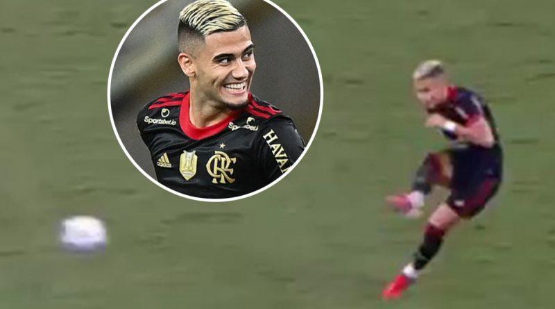 Watch Man Utd outcast Pereira score phenomenal 35-yard free-kick for Flamengo